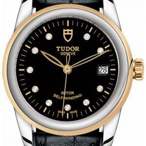 Tudor Glamour Date 55003-0037 Kello Musta / Nahka