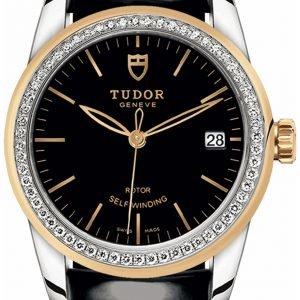 Tudor Glamour Date 55023-0053 Kello Musta / Nahka