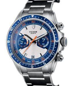 Tudor Heritage Chrono Blue 70330b-0001 Kello Sininen / Teräs