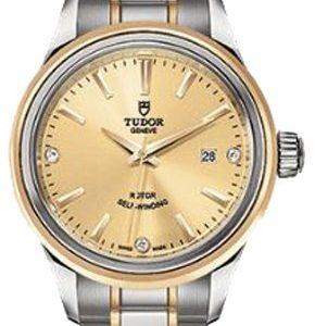 Tudor Style 12103-0004 Kello Samppanja / 18k Keltakultaa