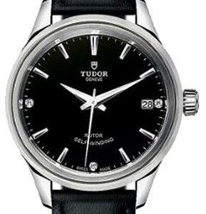 Tudor Style 12300-0008 Kello Musta / Nahka