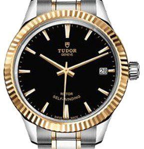 Tudor Style 12313-0005 Kello Musta / 18k Keltakultaa