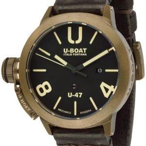 U-Boat Classico 7797 Kello Musta / Nahka