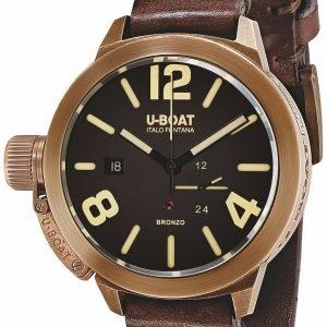 U-Boat Classico 8103 Kello Ruskea / Nahka