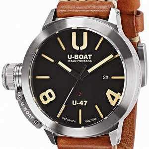 U-Boat Classico 8105 Kello Musta / Nahka