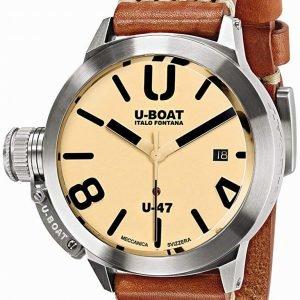 U-Boat Classico 8106 Kello Beige / Nahka