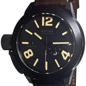 U-Boat Classico 8107 Kello Musta / Nahka
