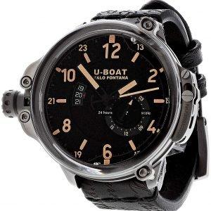 U-Boat Classico 8189 Kello Musta / Nahka