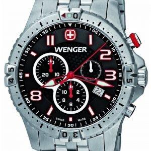 Wenger Squadron 77056 Kello Musta / Teräs