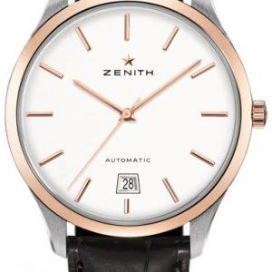Zenith Captain 51.2020.3001-01.C498 Kello Hopea / Nahka