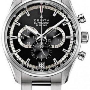 Zenith El Primero 03.2040.400-21.M2040 Kello Musta / Teräs