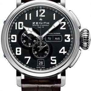 Zenith Pilot 03.2430.4054-21.C721 Kello Musta / Nahka