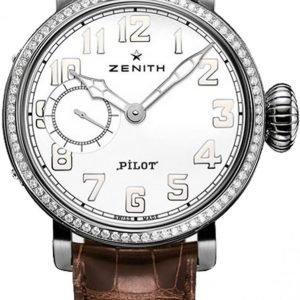 Zenith Pilot 16.1930.681-31.C725 Kello Hopea / Nahka