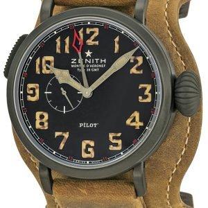 Zenith Pilot 96.2431.693-21.C738 Kello Musta / Nahka
